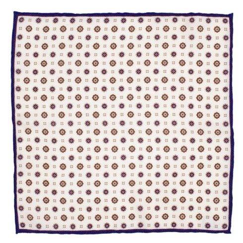 woolen black flowers pocket square