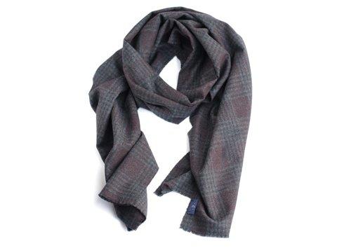 100% cashmere dark grey scarf