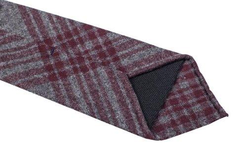 Checkered woolen untipped tie