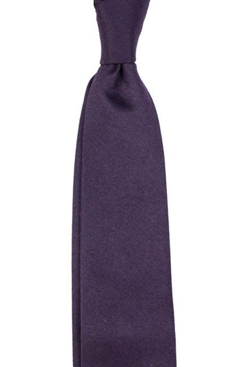 Eggplant woolen untipped tie