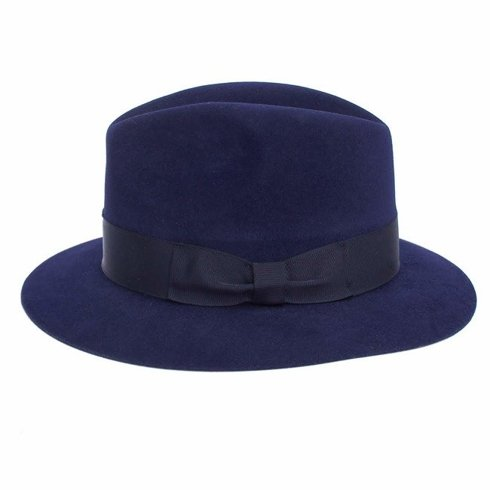 Fedora hat blue navy