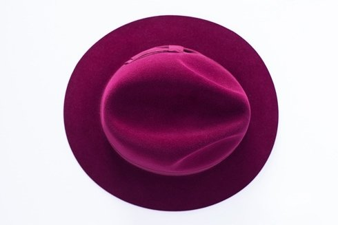 Fedora hat burgundy