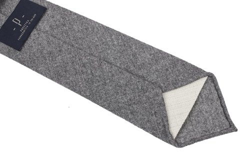 GREY FLANNEL UNTIPPED HANDROLLED TIE