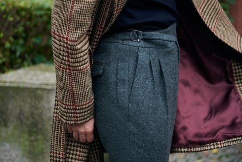 Grey flannel Gurkha trousers