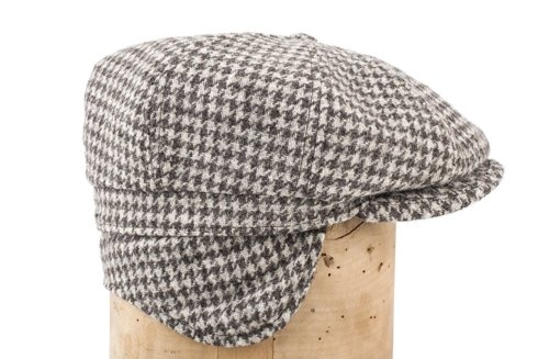 Houndstooth driver's cap with ear flaps Marling & Evans