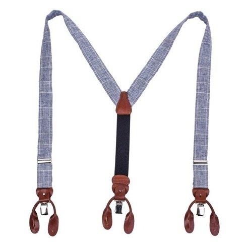 Linen BRACES 3,5 CM CLIPS & BUTTONS