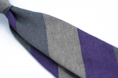 Linen grenadine self-tipped tie