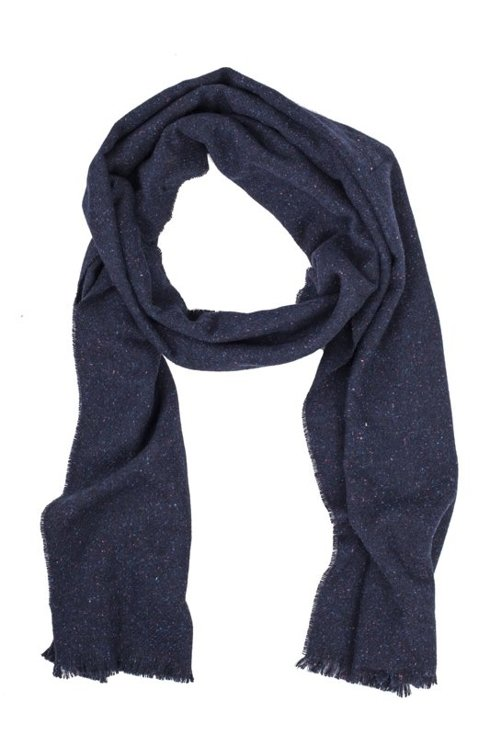 NAVY DONEGAL SCARF