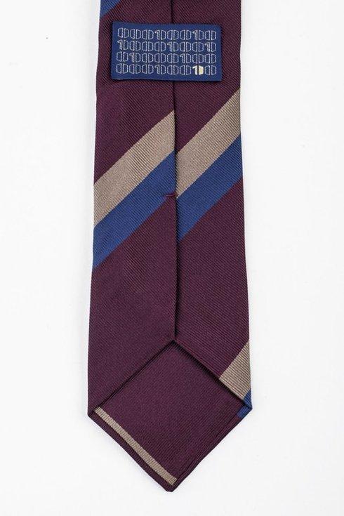 Nay regimental silk jacquard tie