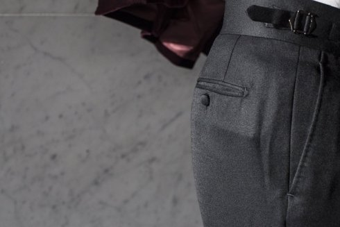 Pleated trousers 'Luciano'