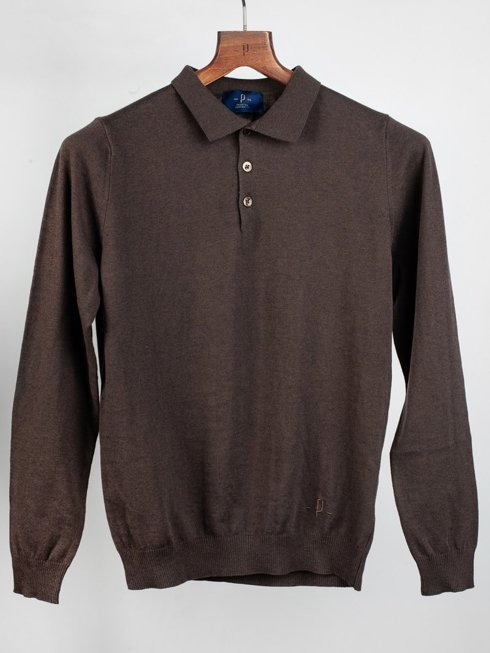 Polo spring sweater - brown