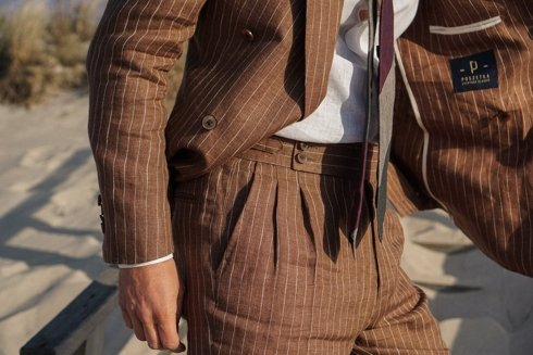 Preorder: double-breasted ultralight suit 'Positano'