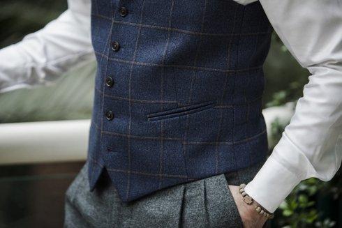 Preorder: grey flannel Gurkha trousers