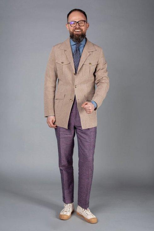 Preorder: linen round collar shirt Albini