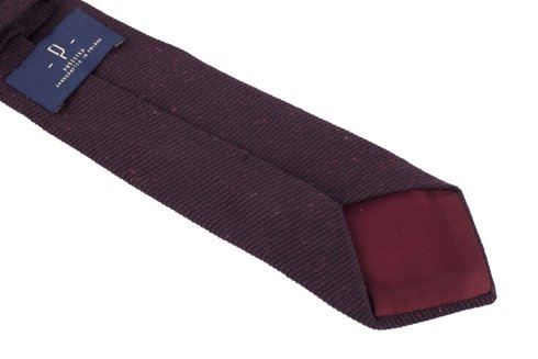 RUST FLANNEL UNTIPPED HANDROLLED TIE