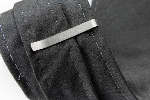Silver Tie Clip INITIALS