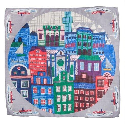 """Stockholm"" Wool and Silk scarf 100 cm"