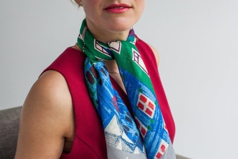 """Stockholm"" Wool and Silk scarf 100 cm"