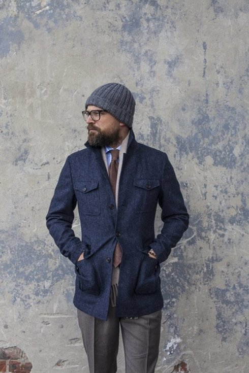 Tweed safari jacket 'James'