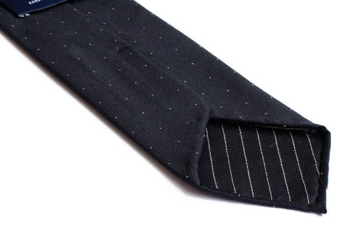 UNTIPPED WOOLEN  TIE with dots