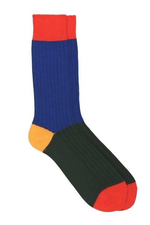 Warm colourful socks