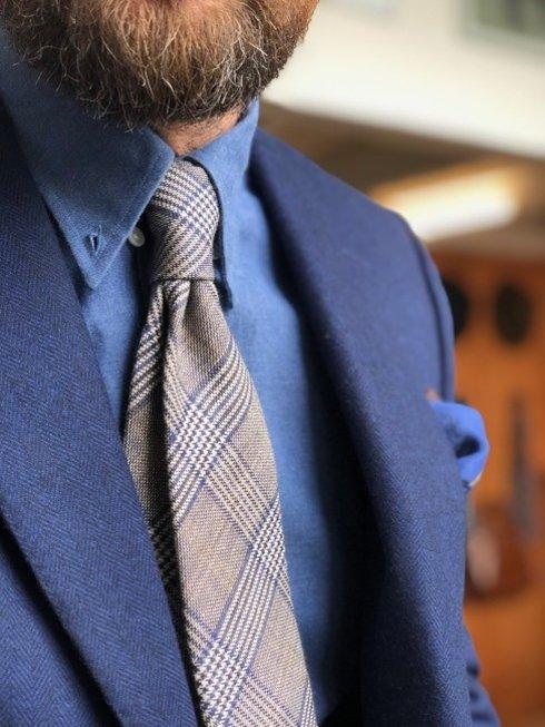 Wool & Linen untipped PoW tie
