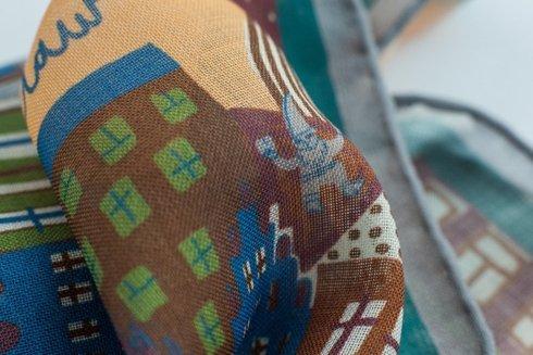 Wool and Silk Wroclaw scarf 65 cm