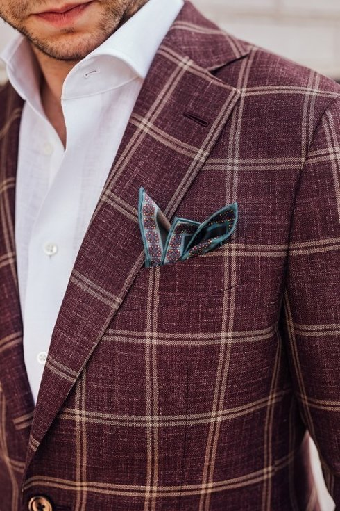 "burgundy ""Marlon"" jacket"