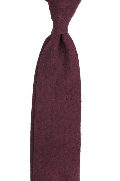 burgundy UNTIPPED shantung tie