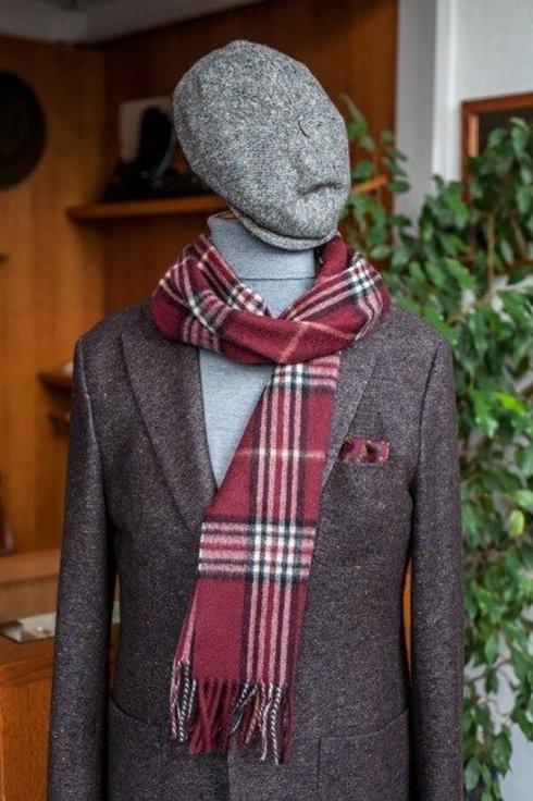 burgundy cashmere & wool classic scarf