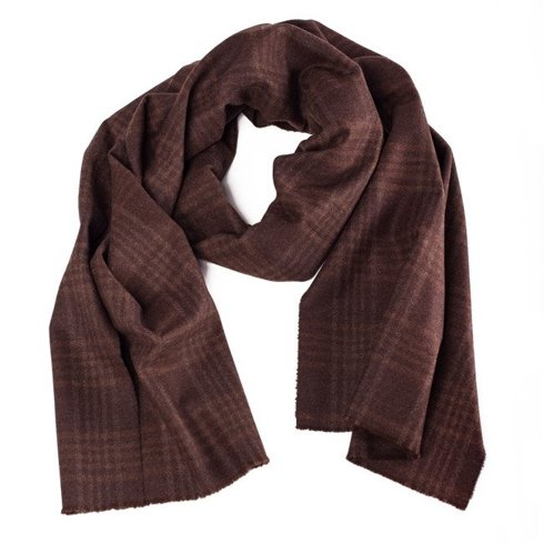 chocolate cashmere scarf