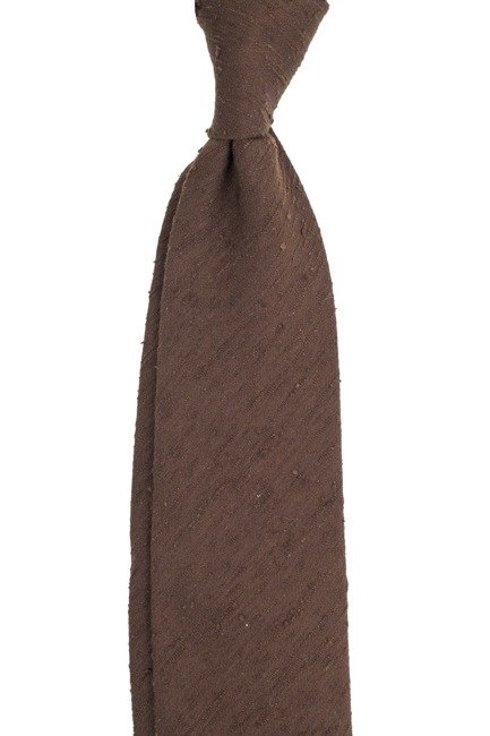 chocolate UNTIPPED shantung tie