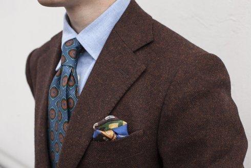 copper brown tweed sports jacket  'Marlon II'