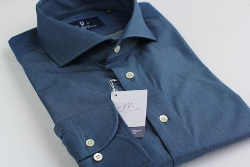 denim cutaway collar shirt