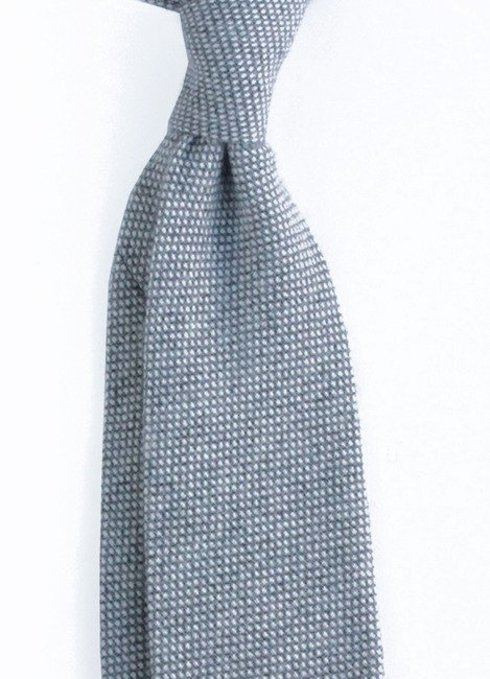 grey cashmere untipped TIE