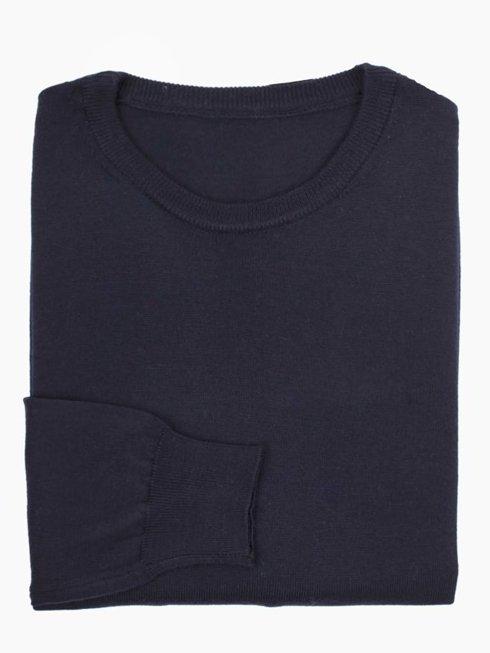 light merino wool sweater navy