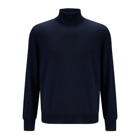 light merino wool turtleneck navy