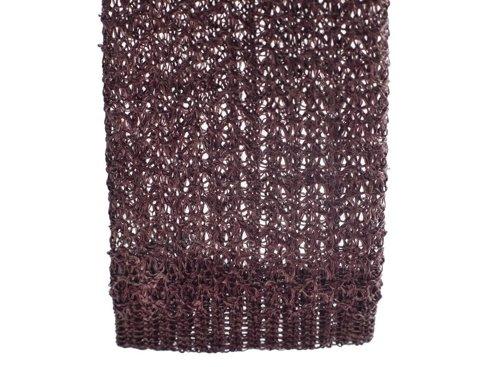 linen burgundy knit tie