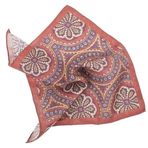 linen ornament pocket square