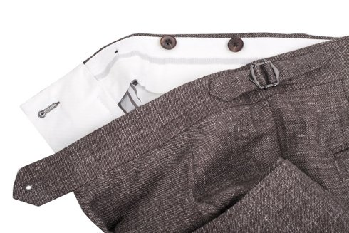 preorder: wool-linen trousers