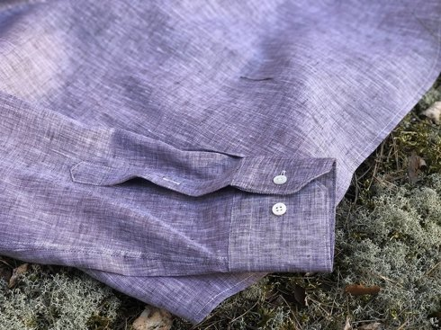 linen popover brown with violet
