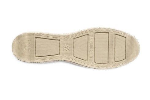 navy Espadrille with herringbone pattern