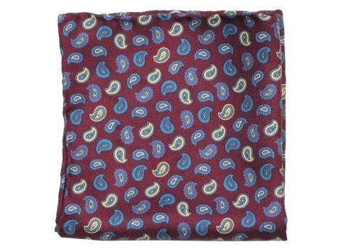 paisley silk pocket square 28 cm