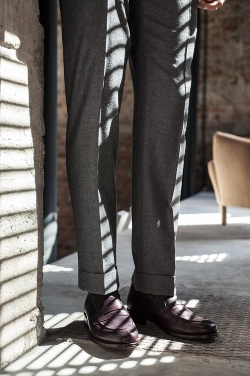 pleated flannel trousers 'Alfred I'