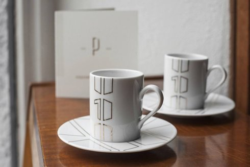 "set of espresso cups FOR OUR ANNIVERSARY ""10""."