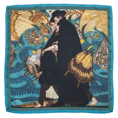 "silk 45cm scarf ""The war and us"" Edward Okuń"