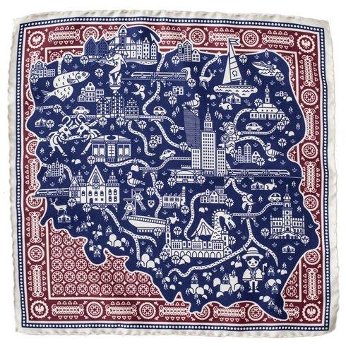 silk pocket square Poland