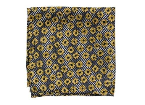 silk pocket square flower
