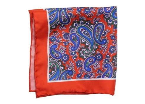 silk pocket square paisley