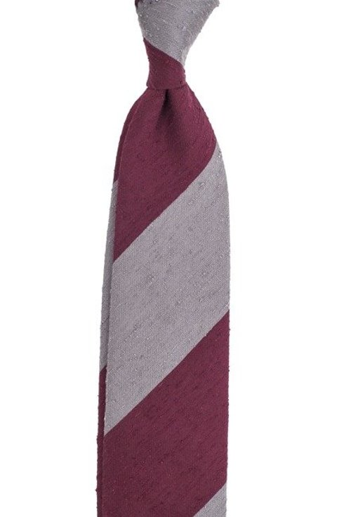 REGIMENTAL UNTIPPED shantung tie